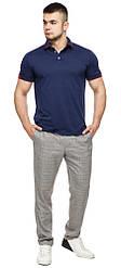 Чоловіча стильна футболка поло колір темно-синій-червоний модель 6618