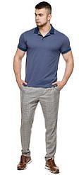 Футболка поло чоловіча модна колір джинс модель 6093
