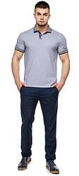 Сіра трендова футболка поло чоловіча модель 6093