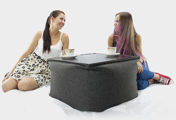 Бескаркасный столик Микро-рогожка 45*40 см. разные цвета