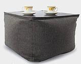 Бескаркасный столик Микро-рогожка 45*40 см. разные цвета, фото 2