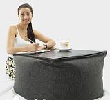 Бескаркасный столик Микро-рогожка 45*40 см. разные цвета, фото 5
