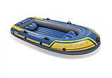 """Лодка надувная трехместная с веслами и насосом Intex 68370 """"Challenger"""", до 255 кг, фото 2"""