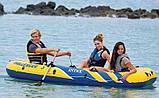 """Лодка надувная трехместная с веслами и насосом Intex 68370 """"Challenger"""", до 255 кг, фото 4"""
