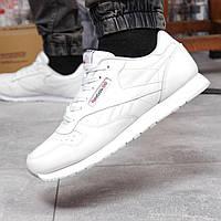 Кроссовки мужские кожаные Reebok Classic Рибок Классик белый (размер 43, 44, 46)