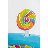 Детский надувной центр Intex 57149 «Сладости» с шариками, горкой и фонтаном (295*191*130 см), фото 2