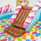 Детский надувной центр Intex 57149 «Сладости» с шариками, горкой и фонтаном (295*191*130 см), фото 3