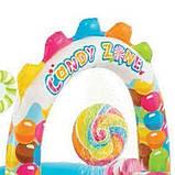 Детский надувной центр Intex 57149 «Сладости» с шариками, горкой и фонтаном (295*191*130 см), фото 4