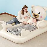 Детская надувная велюр-кровать Bestway Мишка Teddy 67712, фото 5