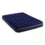 Надувной двухместный матрас Intex Classic Downy Airbed, 152х203х25 см (64759) синий, фото 3