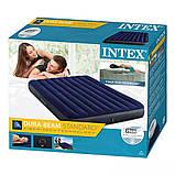Надувной двухместный матрас Intex Classic Downy Airbed, 152х203х25 см (64759) синий, фото 4