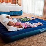 Надувной двухместный матрас Intex Classic Downy Airbed, 152х203х25 см (64759) синий, фото 5
