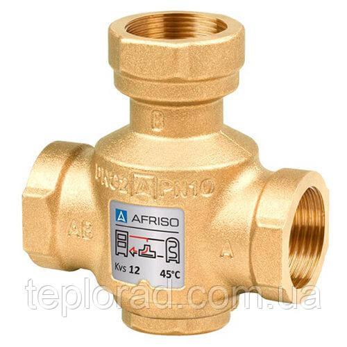 Термический трехходовой клапан Afriso ATV 333 Rp 1 DN25 kvs 9 T=45ºC (1633300)
