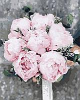 Картина по номерам Пионы для невесты