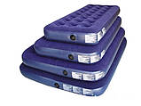 Велюровый матрац 67003 синий 203-152-22 см, фото 2