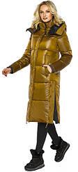 Куртка женская зимняя длинная цвет дижон модель 42650