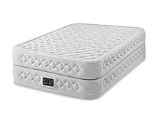 Двуспальная надувная кровать со встроенным электрическим насосом Intex Prime Comfort 64490 (152-203-51 см)