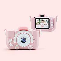 Детский фотоаппарат Smart kids cam KVR-001 фотоапарат + чехол (зарядка от USB) розовый