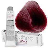 Перманентная крем-краска для волос Alter Ego Techno Fruit Color, 100 мл 6/26 - Тёмный блондин ирис красный