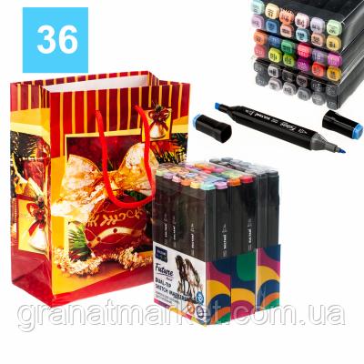 Набор двухсторонних скетч-маркеров Sultani Future 36 цветов в подарочной упаковке