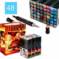 Набор двухсторонних скетч-маркеров Sultani Future 48 цветов в подарочной упаковке