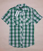 Рубашка мужская с коротким рукавом New Dream р.L (46) Зеленый клетка