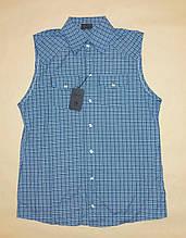 Рубашка мужская без рукавов Sonetti р.L (48) Синий клетка