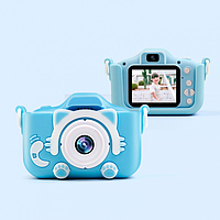 Детский фотоаппарат Smart kids cam KVR-001 фотоапарат + чехол (зарядка от USB) голубой