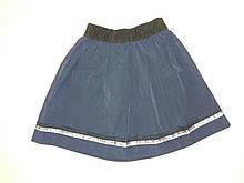 Юбка школьная для девочки Fashion р.128-134 см. Темно-синий