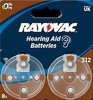 Батарейка Rayovac 312 BLI 8 шт