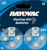 Батарейка Rayovac 675 BLI 8 шт
