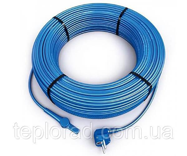 Двужильный нагревательный кабель Hemstedt FS 10 140 Вт со встроенным термостатом и вилкой для оборева труб