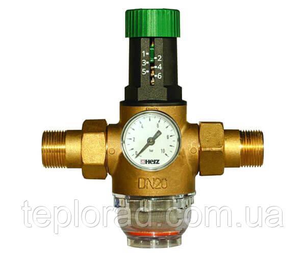 Редуктор тиску мембранний Herz DN40 G 1 1/2 (1268215) для холодної води