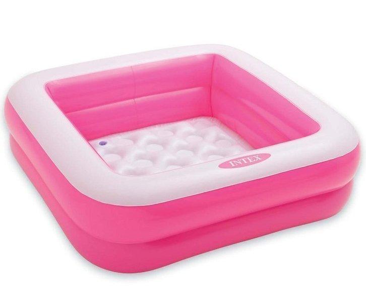 Детский надувной бассейн Intex 57100, розовый, 85 х 85 х 23 см.