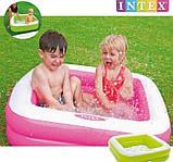 Детский надувной бассейн Intex 57100, розовый, 85 х 85 х 23 см., фото 2