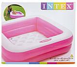 Детский надувной бассейн Intex 57100, розовый, 85 х 85 х 23 см., фото 4