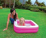 Детский надувной бассейн Intex 57100, розовый, 85 х 85 х 23 см., фото 5