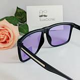 Мужские поляризованные квадратные очки фотохром(хамелеон) в матовой оправе, фото 6