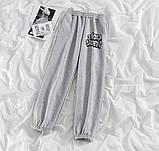Спортивные штаны женские двунитка молоко, серый 42-44,46-48,50-52, фото 3