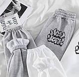 Спортивные штаны женские двунитка молоко, серый 42-44,46-48,50-52, фото 2