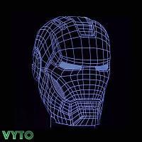 3D Светильник Маска Железного человека 13-5