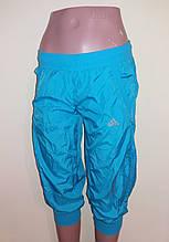 Бриджи женские Adidas р.42 Голубой