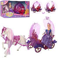 Карета 238A, Карета для детей,Набор литл пони,Карета с лошадью,Лошадка