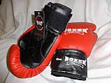 Боксерские перчатки 12 oz КОЖВИНИЛ Boxer 3 цвета, фото 4