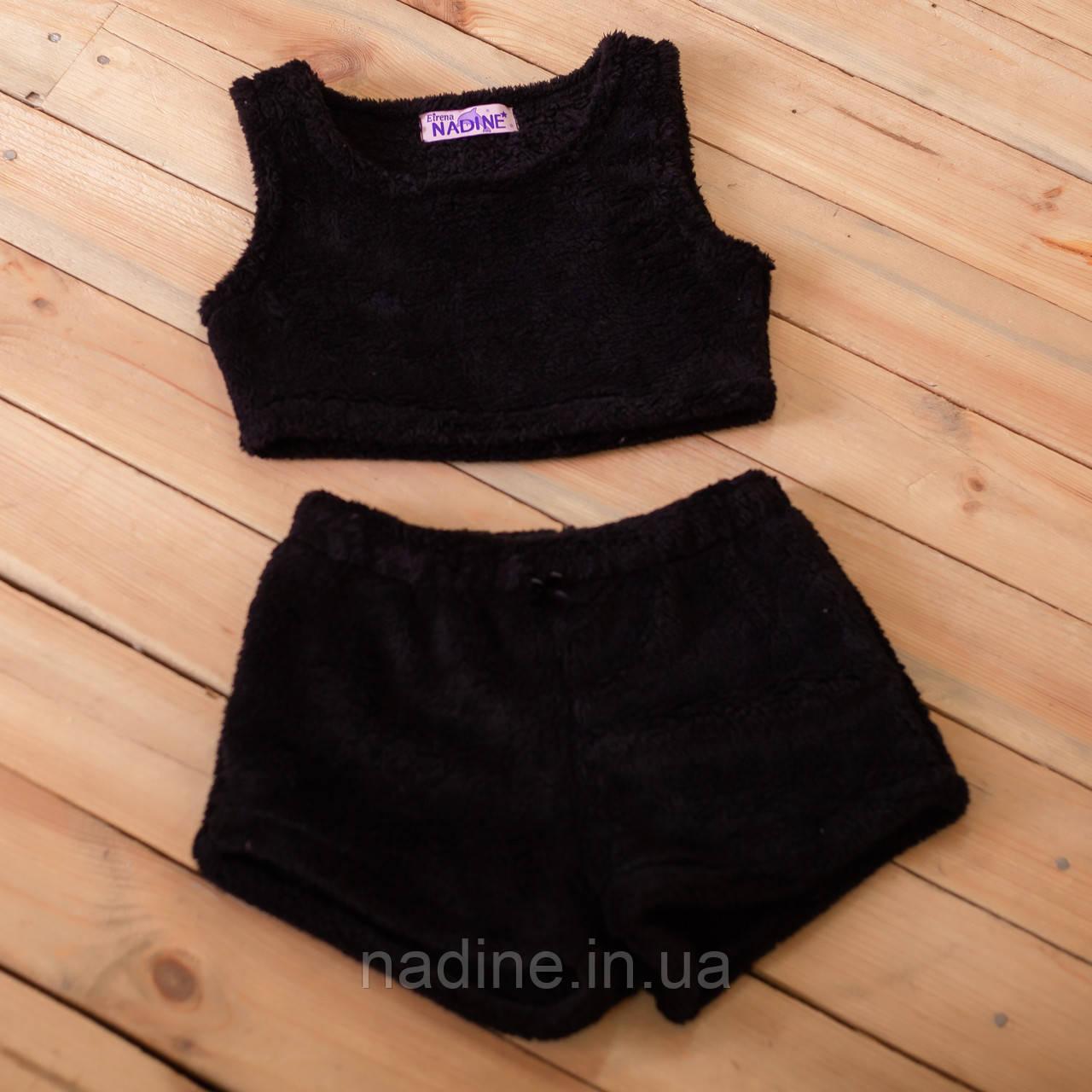 "Піжама топ +шорти ""Black"" Eirena Nadine (774-58) чорна на зріст 158"