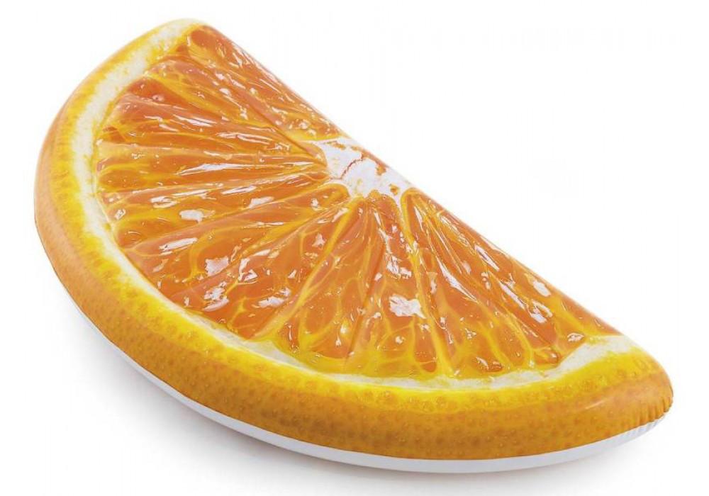 Пляжный надувной матрас - плот Intex 58763 Долька Апельсина, 178 х 85 см.