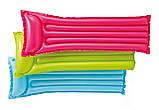 Пляжный надувной матрас с подголовником Intex 59703, 183 х 69 см. разные цвета, фото 2