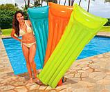 Пляжный надувной матрас с подголовником Intex 59703, 183 х 69 см. разные цвета, фото 3