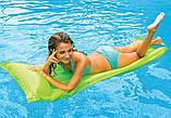 Пляжный надувной матрас с подголовником Intex 59703, 183 х 69 см. разные цвета, фото 4