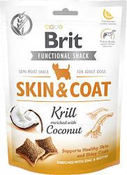 Лакомство для собак Brit Care Skin&Coat криль с кокосом 150 г
